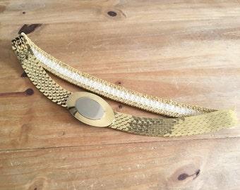 ON SALE - Gold and Silver Belt - Vintage Belt - Women's Clothing - Gold Belt Silver Belt