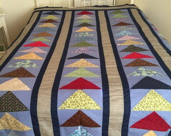 Quilt Top - Flying Geese Pattern