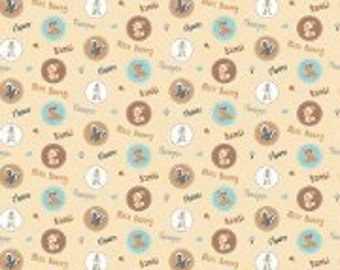 Disney Bambi Happy Together Fabric/ Charactor Badges/  Cotton Fabric/ Sold by the yard