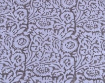 Indian Fabric Hand Print Fabric Handmade Authentic Cotton Running Fabric Floral Sanganeri Fabric Natural dyed Hand Block Fabric by Yard