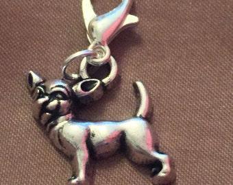 Clip on chihuahua charm