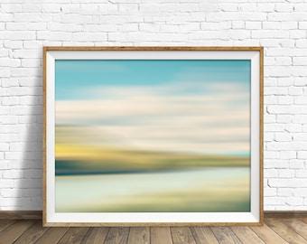"landscape, landscape print, abstract, abstract art, pastels, large art, large wall art, instant download printable art - ""Landscape No. 4"""