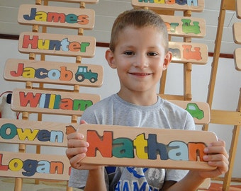 WOODEN PUZZLE NAME - Nathan