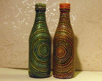 Etsy your place to buy and sell all things handmade for Can acrylic paint be used on glass bottles