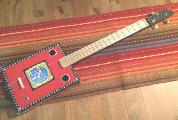 3 string acoustic electric cigar box guitar 2016 28 nylon. Black Bedroom Furniture Sets. Home Design Ideas