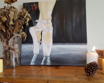 On Pointe - Acrylic on Canvas - Original Artwork, ready to hang