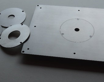 Universal insert plate for router table