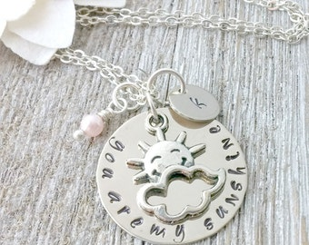 Personalized, Your are my Sunshine, Silver, Necklace