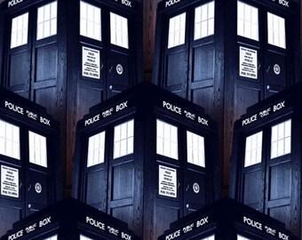 Doctor Who Tardis fabric, BBC fabric, geek fabric, Dr. who fabric, tardis fabric, licensed fabric,