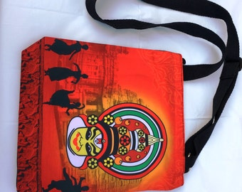Summer Handbag; Indian bag, Handmade, Colourful, Unique, kathakali Dancer Handbag