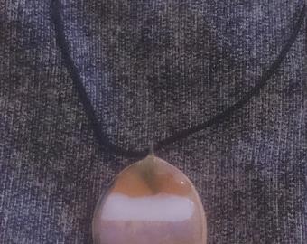 Striped ceramic pendant