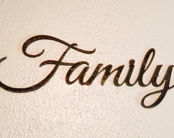 Large Rustic Family Metal Sign