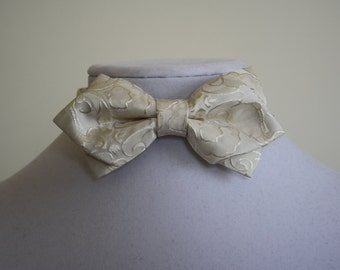 ivory bow tie for men
