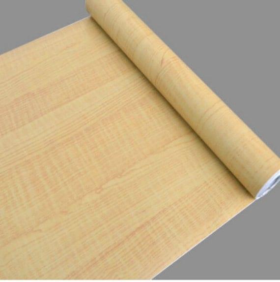 Kitchen Shelf Liner Paper: Ash Birch Wood Grain Contact Paper Shelf Liner Self-Adhesive