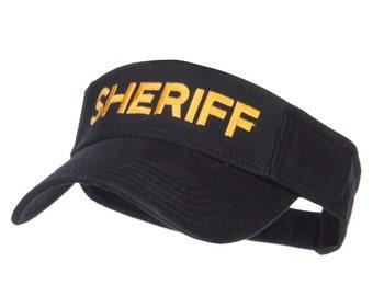 Sheriff Embroidered Washed Cotton Visor