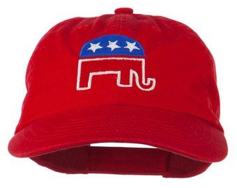 Republican Elephant USA Embroidered Pet Spun Cap