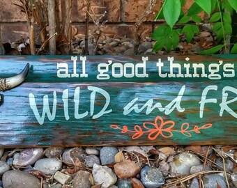Rustic barn wood sign