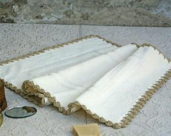Cream bath mat,handmade,Bathroom mat,bath rug,Cream,bathroom rug,Bathroom rug,100% Cotton