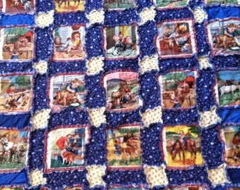 Rag Quilt with Farm Scenes