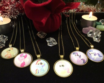 Mane 6 My Little Pony Dome Necklaces