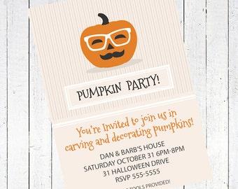 halloween invitation pumpkin carving party invite - Pumpkin Carving and Decorating Party Invitation Printable