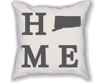 Connecticut Home State Pillow