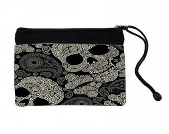 Paisley Skull Cosmetic Bag