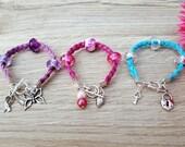 Suede Bracelets, Fibromyalgia Bracelet, Pink Suede Bracelet, Purple Suede Bracelet, Turquoise Suede Bracelet, Suede Bracelet Charms