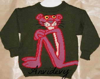 Pink Panther sweater, 6, single copy.