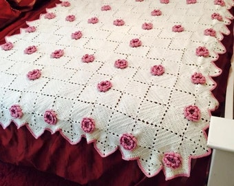 Roses and Cream Afghan
