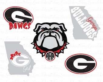 Georgia Bulldogs Design for Silhouette and other craft cutters (.svg/.dxf/.eps/.pdf)