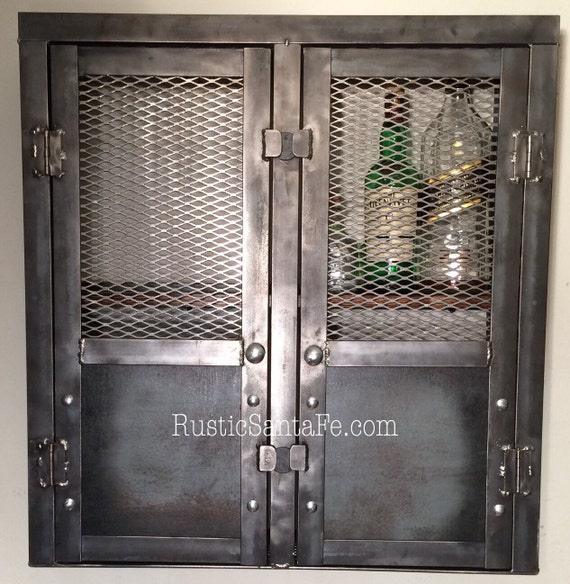 Rustic Liquor Cabinet Reclaimed Industrial By Rusticsantafe