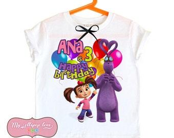 Kate and Mim-mim Birthday shirt - personalized birthday shirt