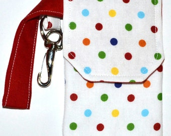 Polka Dot Cell Case with Clip