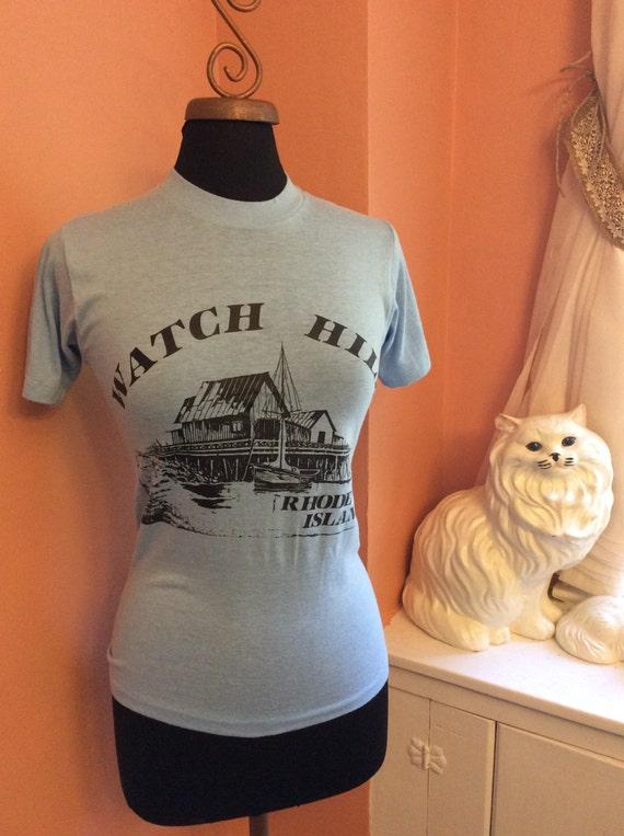Vintage Rhide Island T-Shirt, 80s Watch Hill Tourist, (B013)