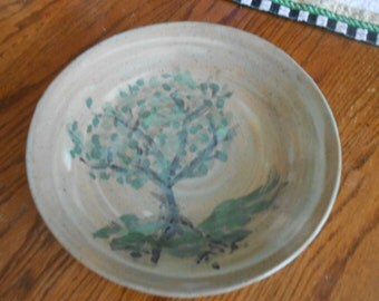 Nine inch hand-painted Tree Plate