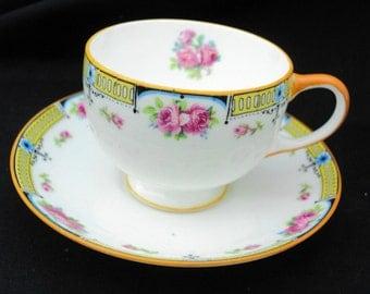 Star Paragon art deco roses tea cup and saucer