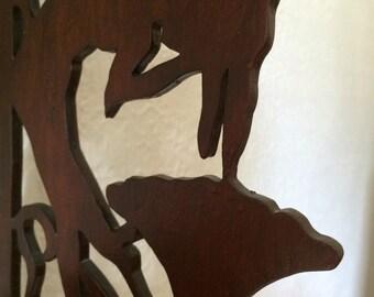 Naked Nymth Wooden Knick Knack Shelf