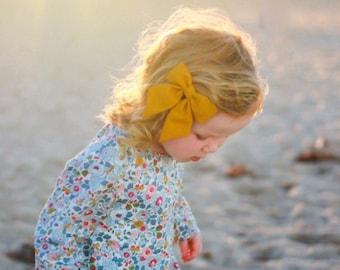 Mustard Hair Bow | Mustard Hair Bows, Mustard Yellow Bow, Girls Hair Bow, Girls Hair Clip, Yellow Hair Bow, Yellow Hair Clip
