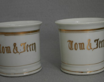 Set of Two Vintage Tom and Jerry Mugs