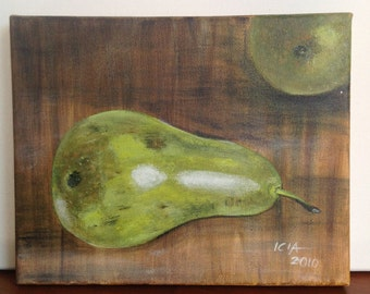 Pears acrylic painting, kitchen decorations