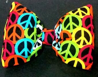 Peace Hair Bow