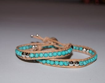 Chan Luu - Woman bracelet with turchesite