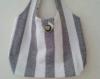 Grey stripe bag