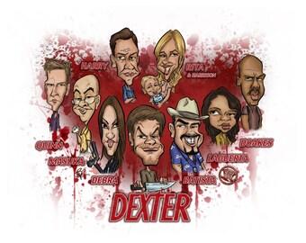 Dexter Caricature Print