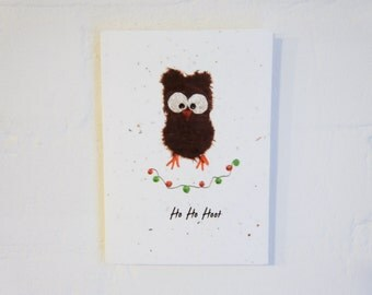 Owly Christmas Plantable Card