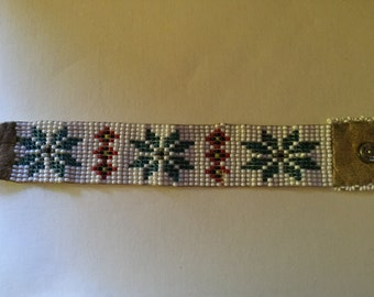 Vintage Native American Seed Beaded Bracelet
