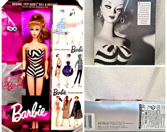 Vintage 35th Anniversary Barbie - Original 1959 Barbie Doll & Package Special Edition Reproduction - 1993 Mattel 11590
