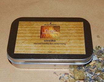 fuego incense blend - smoke :  1oz