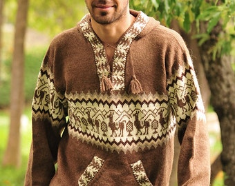 Gamboa Hooded Llamitas Alpaca Sweater